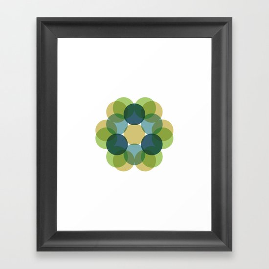 #363 Flourishing – Geometry Daily Framed Art Print