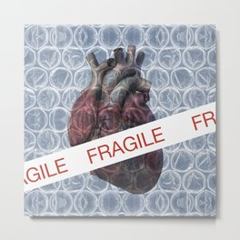 Fragile heart Metal Print
