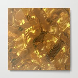 Luxury Gold Relief  Metal Print
