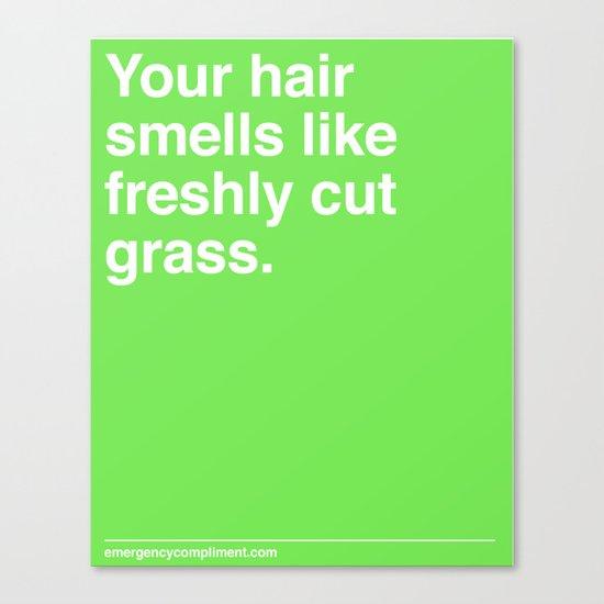 Freshly Cut Grass Canvas Print