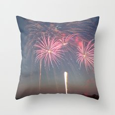 Night of Fire I Throw Pillow