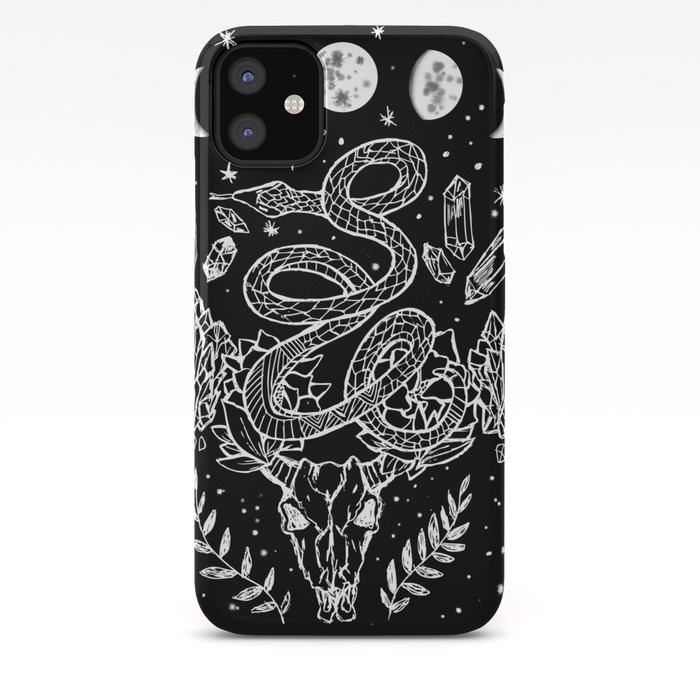 Gothic Snakes And Crystals Moon Phases iPhone Case