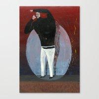 steve jobs Canvas Prints featuring steve jobs by Robert Deutsch