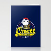 league Stationery Cards featuring Onett little league by TeeKetch
