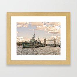 HMS Belfast London Framed Art Print