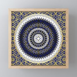 Royal Baroque Mandala Framed Mini Art Print