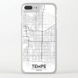 Minimal City Maps - Map Of Tempe, Arizona, United States Clear iPhone Case