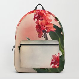 Blossom of Red Canna lily flowers Backpack