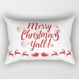 MERRY CHRISTMAS YALL Rectangular Pillow