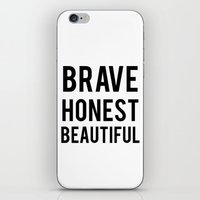 fifth harmony iPhone & iPod Skins featuring Fifth Harmony - Brave Honest Beautiful case by Keri Kilbride