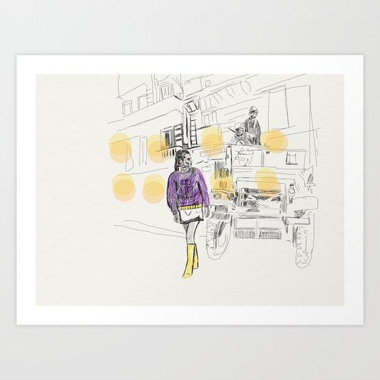Yellow Dots Art Print