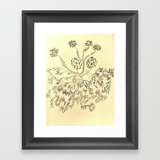 Roots Sepia Framed Art Print