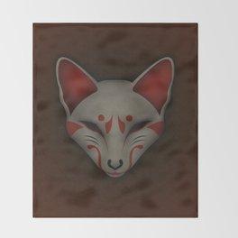 Kitsune Kabuki Throw Blanket