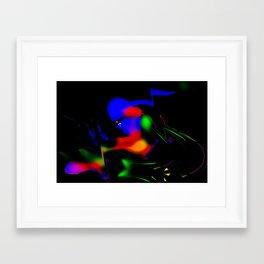 Motorcycle Lady Framed Art Print