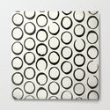 Polka Dots Circles Tribal Black and White by followmeinstead
