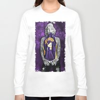 lakers Long Sleeve T-shirts featuring Marilyn Monroe Los angeles Lakers with tattoos by Three Second