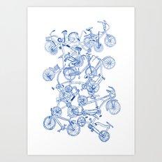 Bicycle crowd Art Print