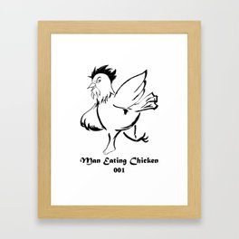 Man Eating Chicken 001 Framed Art Print