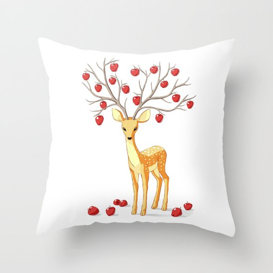 Autumn Fawn Throw Pillow