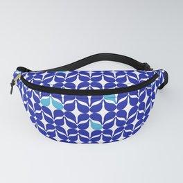 Geometric Acrylic Pattern - Cobalt Blue Fanny Pack