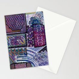 Purple Pandemonium Stationery Cards