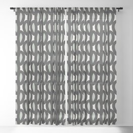 geo six-celadon Sheer Curtain