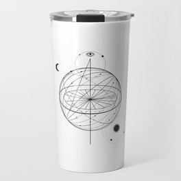 Alchemy symbol with eye, moon, sun Travel Mug