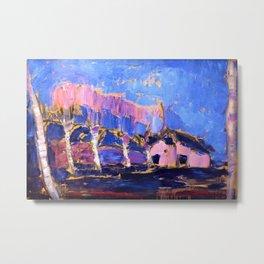 Evening Landscape - Piet Mondrian Metal Print