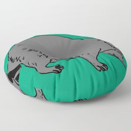 The Sly Racoon Floor Pillow