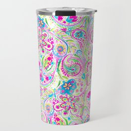 Paisley Watercolor Brights Travel Mug