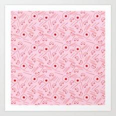 Send Noodz -red/pink Art Print