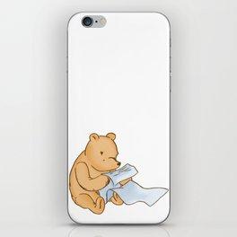 Pooh Reading iPhone Skin