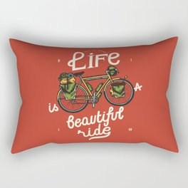 Life Is a Beautiful Ride - travel bicycle quote Rectangular Pillow
