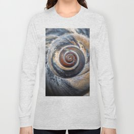 Blue and Gold spiral seashell Long Sleeve T-shirt
