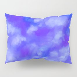 Abstract Clouds - Rich Royal Blue Pillow Sham