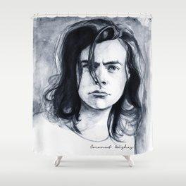 Harry Watercolors B/N Shower Curtain