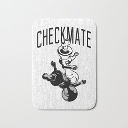 Checkmate Punch Funny Boxing Chess Bath Mat