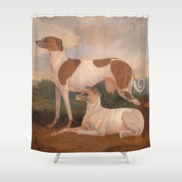 oil paintings of greyhounds Shower Curtain