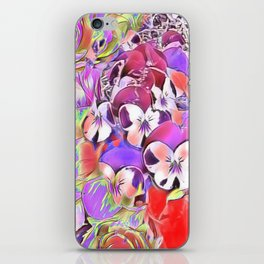 Candy floral mix pink iPhone Skin