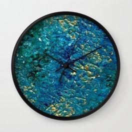 Turbulent Waves, Abstract Acrylic Wall Clock
