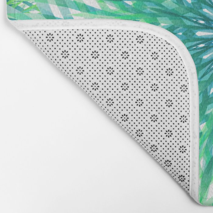 Palm Leaf Mandala Bath Mat