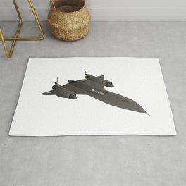 SR-71 Blackbird Reconnaissance Aircraft Rug
