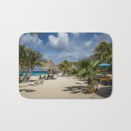 Curacao - Caribbean Island Beach Scene Bath Mat