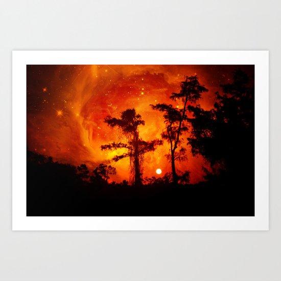 Fire in the Everglades Art Print