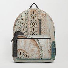 Mosque Hassan II in Casablanca, Morocco Backpack
