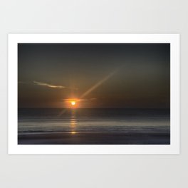 Breaking Dawn Daytona Beach Art Print