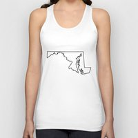 maryland Tank Tops featuring Maryland by mrTidwell