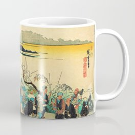 Utagawa Hiroshige - Famous Views Of Naniwa - Imamiya Toka Ebisu Coffee Mug