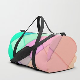 Simple Colorful Pastel Tiles Duffle Bag