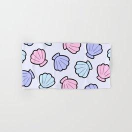 Mermaid Shells Pastel Pattern Hand & Bath Towel